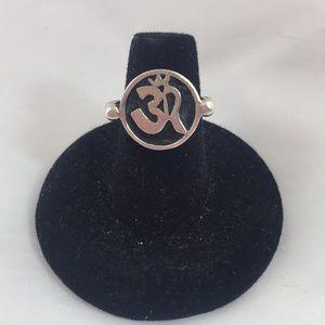 🎈SS .925 OHM 🕉 Symbol Ring